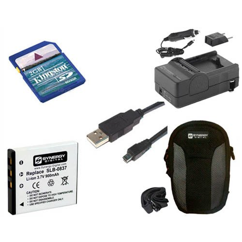 Samsung L700 Digital Camera Accessory Kit includes: USB8PIN USB Cable, KSD2GB Memory Card, SDSLB0837 Battery, SDM-1504 Charger, SDC-22 Case