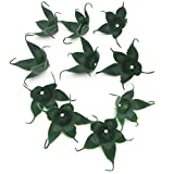 50pcs Green Artificial Rose Torus Leaves Tray Receptacle Calyx DIY Flower Decor Craft offers