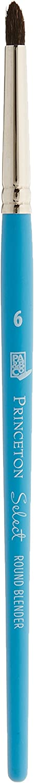 Princeton Artist Brush RB-6 Select Natural Hair Brush Round Blender Size 6