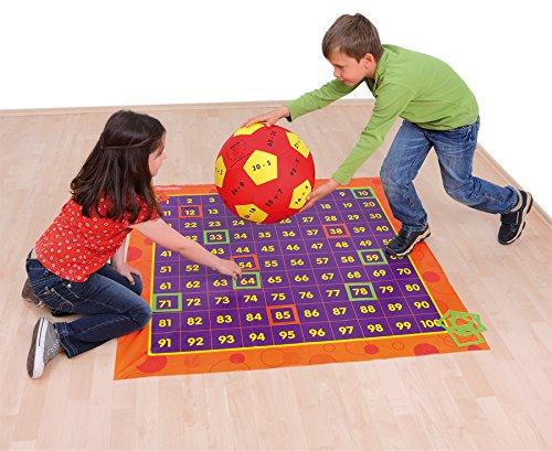 Bewegtes Rechnen im Zahlenraum 100, Lernen und Bewegen, Rechnen lernen, u.a. mit 2 Lernspielbälle und 54 Markierungsrahmen