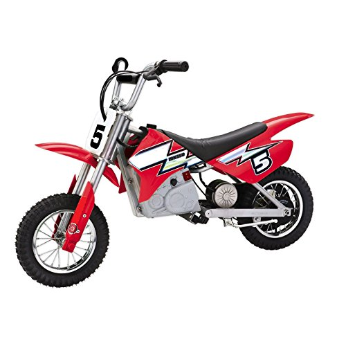 Kids Bike Red Ride On Toy 24V Electric Motocross Motorcycle Dirt Bike 12 Inch Tires 140 Pounds Capacity - Skroutz