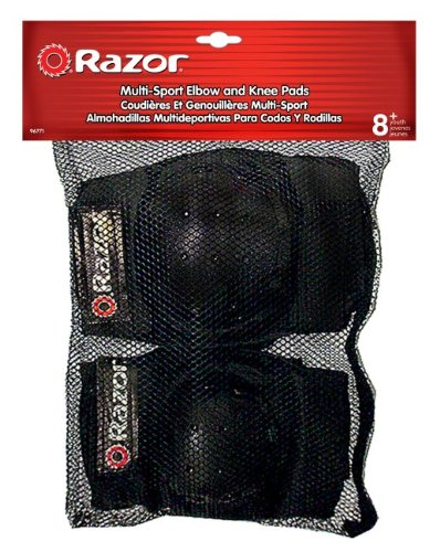 Razor Youth Multi-Sport (2) Elbow & (2) Knee Pad Safety Set - Black   96771 (6 Pack) by Razor (Image #4)