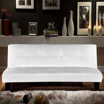 Bagno Italia sofá cama moderno 164x95 blanco en microfibra ...