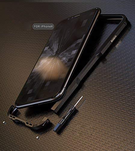 0e6549ec5c0 EGO TECHNOLOGY INCISIVE luphie Bumper Case de Lujo Metalico Aluminio  Protector Aviación Anti Golpes Delgado iPhone X Negro: Amazon.com.mx:  Electrónicos