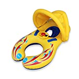 Wincom Dishman Water Sports WD Baby Swimming Pool Water Float Inflatable Children Safety Ring Seat Canopy