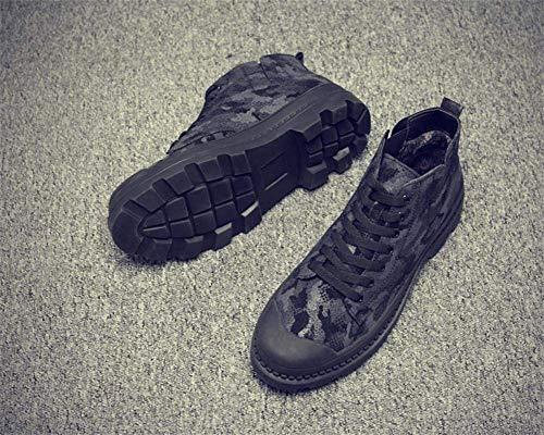 Herramientas Zapatos Fuxitoggo Los Botas Negro Desierto Hombres Tamaño Ayuda 42 Invierno De Algodón Negro Camuflaje color HYwqzRH