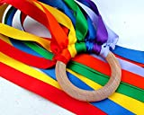 MDH Toys Handcrafted Waldorf Wind Wand Rainbow Hand Kite made in Canada
