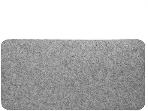 Fosa フェルトマウスパッド オフィス & デスクラップトップ マット 静電防止 コンピュータに対応 PCパッド 68cmx33cm(ライトグレー)