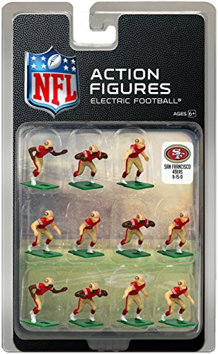 Tudor Games San Francisco 49ers Home Jersey NFL Action Figure Set (San Francisco 49ers Miniature)