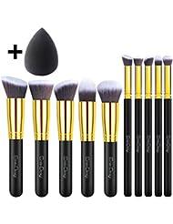 EmaxDesign Makeup Brushes 10+1 Pieces Makeup Brush Set...