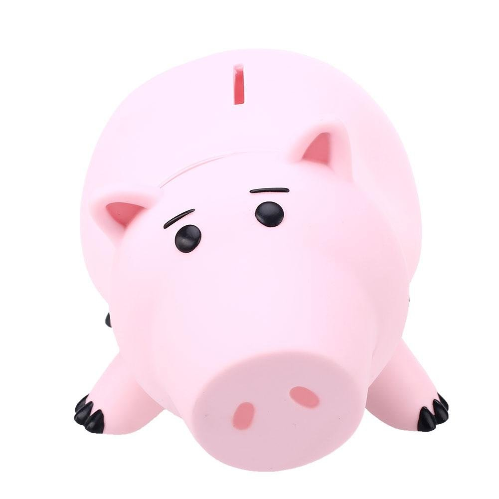 FunnyToday365 Animal Piggy Bank Saving Coin Money Box Toy Story Hamm Piggy Bank Pink Pig Coin Money Box Kids Great Gift