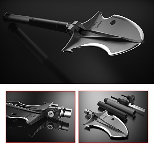 Zune Lotoo Camping Multitool(Smilodon),Casting Steel, A Powerful Cold Weapon for Hiking,Camping,4WD,Fishing and Exploring Emergency