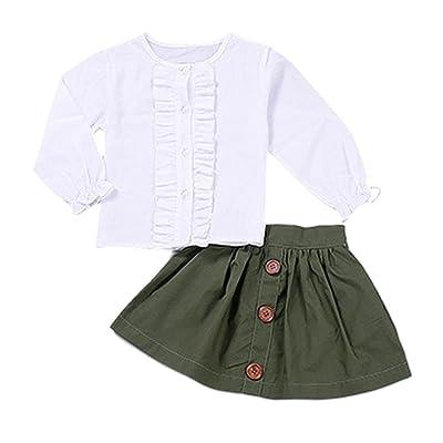 Cutelove Bébé Blanc T-shirts et Courts Robes Pour Enfant Fille Robes De Soirée et Fête