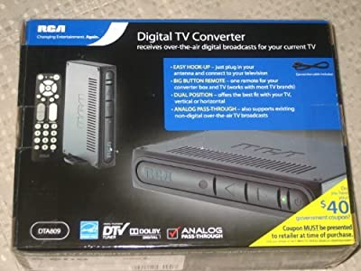 RCA DTA809 DTV Digital TV Converter Box