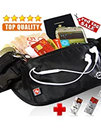 TRAVEL VAULT–Anti-Theft RFID Passport & Money Travel Waist Belt Pouch *FREE*2 Luggage Credit Card Shield