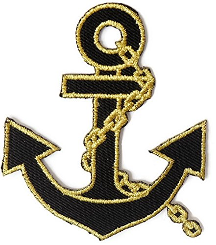 Anchor Iron On Patch Embroidered Sewing For T Shirt  Hat  Jean  Jacket  Backpacks  Clothing