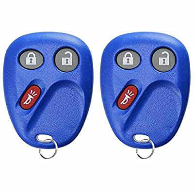 KeylessOption Keyless Entry Remote Control Car Key Fob Replacement for LHJ011 -Blue (Pack of 2): Automotive