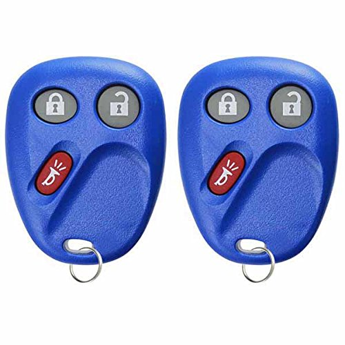 KeylessOption Keyless Entry Remote Control Car Key Fob Replacement for LHJ011 -Blue (Pack of 2) by KeylessOption