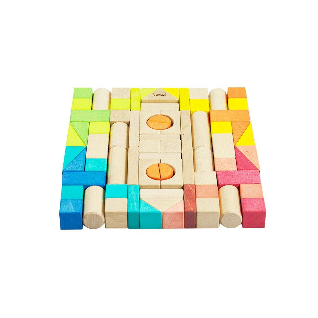 LINGLING-おもちゃ 子供用ギフト木製ブロックおもちゃパズル教育多色3歳のおもちゃ (サイズ さいず : L l) L l  B07QTPXFK7