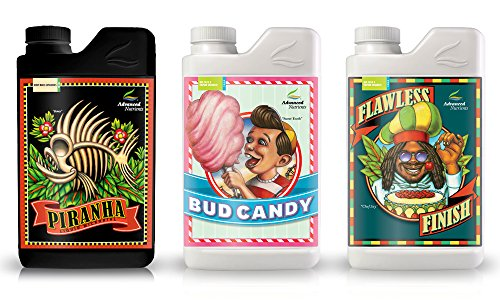 xpert Grower Bundle Piranha, Bud Candy, Flawless Finish Plant Fertilizer Booster Enhancer, 250 ml, 8.4 oz ()