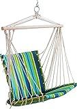 everydaysell900 Portable Garden Porch Hanging Hammock Wood Outdoor Indoor Swing Chair