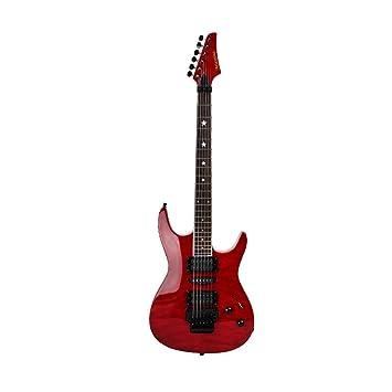 Miiliedy Red Cool Guitarra eléctrica adecuada para Rock Roll Blues ...