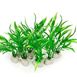 buy COMSUN 10 Pack Artificial Aquarium Plants, Small Size 4 inch Approximate Height Fish Tank Decorations Home Décor Plastic Green now, new 2019-2018 bestseller, review and Photo, best price $9.99