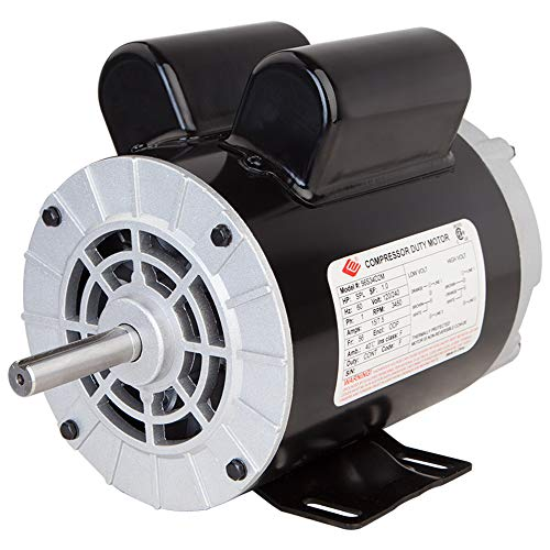 2 HP SPL Compressor Duty Electric Motor, 1 Phase,3450 RPM, 56 Frame, 5/8