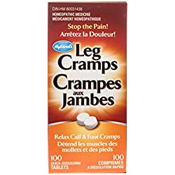 Hyland's Leg Cramp Tablets, Natural Relief of Calf, Leg and Foot Cramp, 100 Count