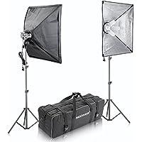 Neewer 1600W Photo Studio Softbox Video Light Lighting Kit, includes:(2)4 Sockets Light Holder+(2)16x24/41x61cm Softbox+(8)45W Light Bulb+(2)83/210cm Light Stand+(1)Carrying Bag