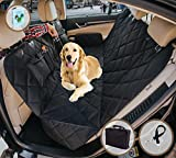 EVOest Dog Car Seat Cover, Pet Seat Cover for Cars/Trucks/ SUV's, Hammock Convertible, 100% Waterproof Pet Back Seat Protector with Extra Side Flaps, Bonus Pet Seat Belt & Tote Bag For Sale