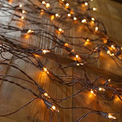 net light with brown wire 150 clear lights 4 x 6 christmas