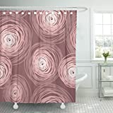 Dusty Pink Shower Curtain TOMPOP Shower Curtain Green Colorful Circles Abstract Tiled Dusty Rose Color Pink Waterproof Polyester Fabric 60 x 72 Inches Set with Hooks