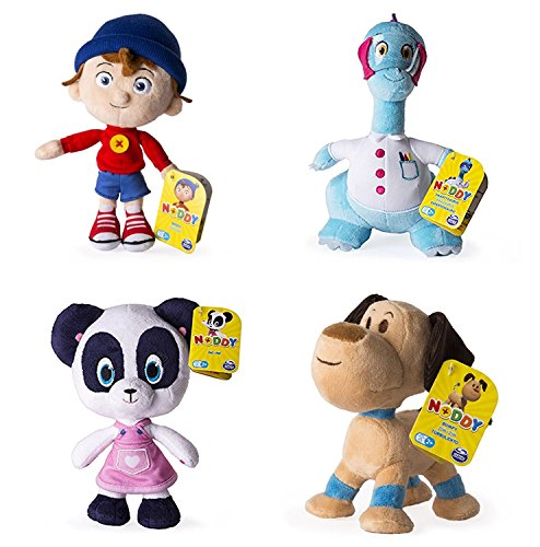 (Noddy DreamWorks Toyland Detective - Set of All 4 - 20cm 8 inch Soft Plush Toys - Pat Pat,, Smartysaurus & Bumpy Dog)