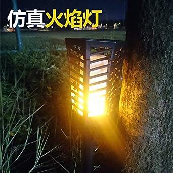 Luz de llama Jardín Insertar Fuego Luz de torsión Paisaje solar Patio Patio Decoración Luz: Amazon.es: Iluminación
