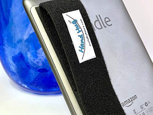 Integrated Wand (HandHugTM Tablet Grip for Kindle, Nook, iPad, Small Tablet - Wrist Support Strap, Reader Handle)