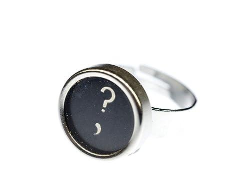 Llave de la máquina de Escribir de la Vendimia botón Negro Upcycling: Amazon.es: Joyería