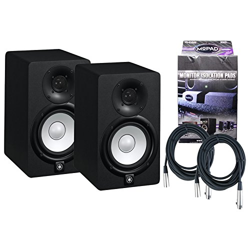 Pair of Yamaha HS5 70W Powered 2-way Studio Monitors w/MoPads and Cables