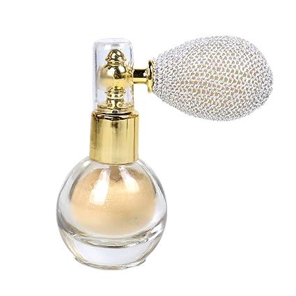 Spray de polvo con purpurina brillante para resaltar el aroma en polvo de maquillaje para cara