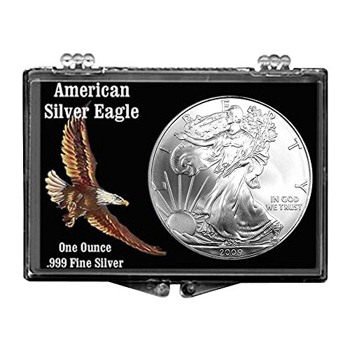 2009 Silver Eagle With Colored Eagle Snaplock Holder $1 Brilliant Uncirculated by United States Mint