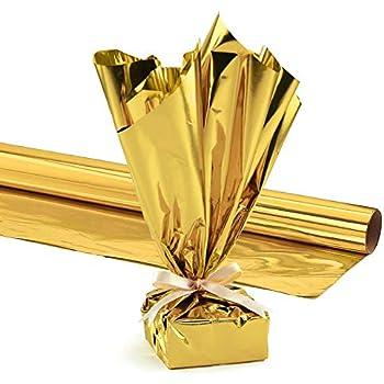 PVC / Mylar Wrap Roll, 24 Inches X 25 Feet, Metallic Gold Pkg/1