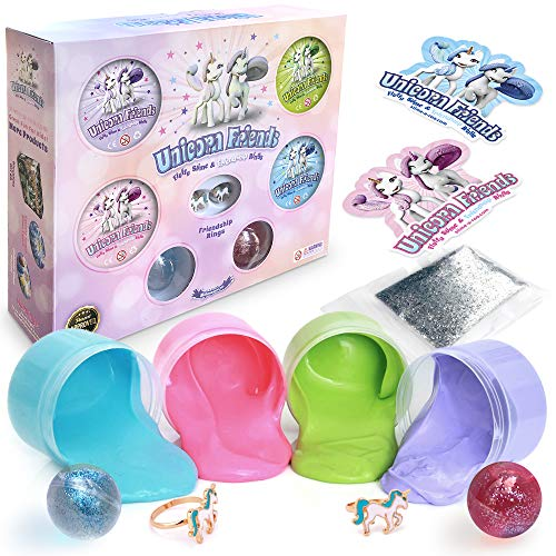 Unicorn Fluffy Cloud Poop Slime Kit with Glitter Toy Set Only $9.99