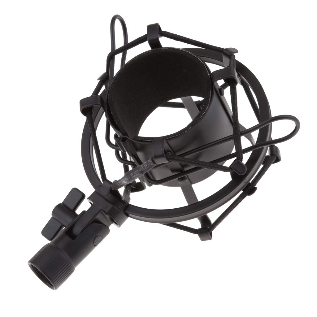 Argent Blanc-4.5cm kesoto Support pour Microphone pour Enregistrement Studio Sc/ène Broadcasting Youtube 15x10x7 cm
