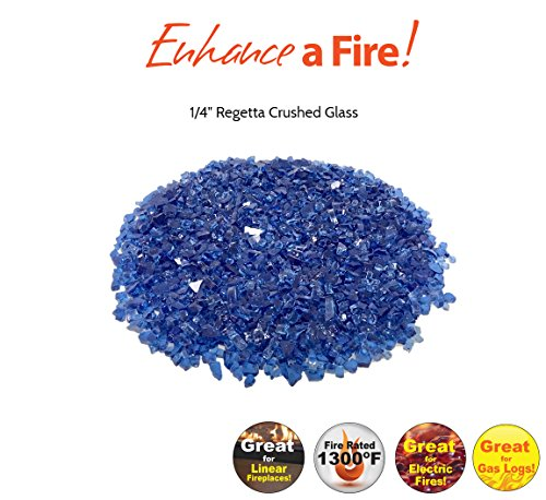 "Enhance A Fire! 1/4"" Crushed Glass (Regatta) by Enhance A Fire!"
