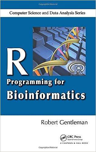 R Programming For Bioinformatics (Chapman U0026 Hall/CRC Computer Science U0026  Data Analysis) 1st Edition