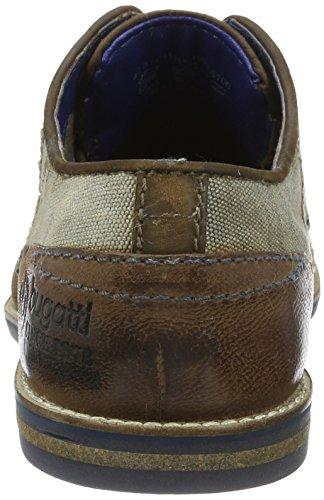 Bugatti 311111111500, Zapatos de Cordones Derby para Hombre Marrón (Dark Brown 6100)
