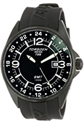 Torgoen Swiss Men's T25301 T25 GMT Black Ion-Plated Date Aviation Watch
