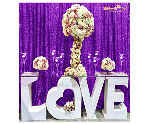 ShinyBeauty Photo Booth Backdrop Best Choice 4FT6FT New Purple Sequin Photobooth Backdrop for Weddings and Events, Wedding Decoration Fabric, Sparkle Curtain for Backdrop
