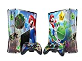 Mario Protector Skin Decal Sticker for Xbox 360 Slim (1 piece for the game console & 2 pieces for 2 controllers) Review
