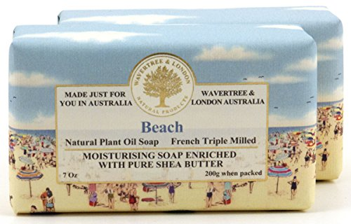 Wavertree & London Natural Plant Oil French Triple Milled Moisturizing Soap with Pure Shea Butter 7 oz each Beach (2-Pack) Review